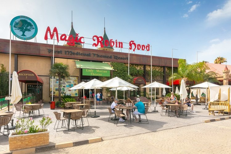 Recepción parque vacacional magic robin hood alfaz del pi
